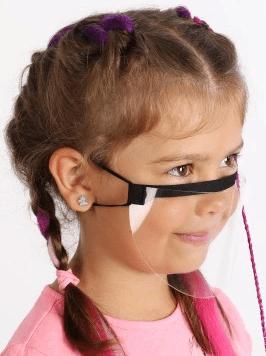 regulowana przyłbica dla dzieci na nos i usta