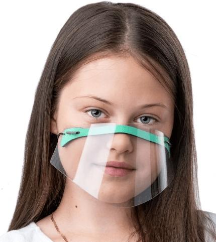 regulowana przyłbica dla dziecka na nos i usta